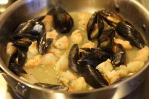 Shrimp and Mussels